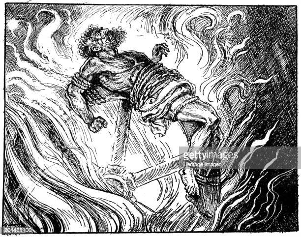 Ixion on the wheel 1925 Ixion king of the Lapiths killed his fatherinlaw and offended Zeus so was bound to a burning wheel for eternity From The Book...