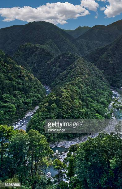 iya valley and hidden mountain regions, japan - vale de iya - fotografias e filmes do acervo