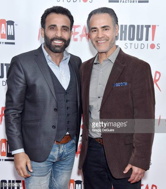 """Iyad Hajjaj and Ali Saam attend the Los Angeles Premiere of Roxwell Films """"I Am Fear"""" at Laemmle Monica Film Center on February 20 2020 in Santa..."""