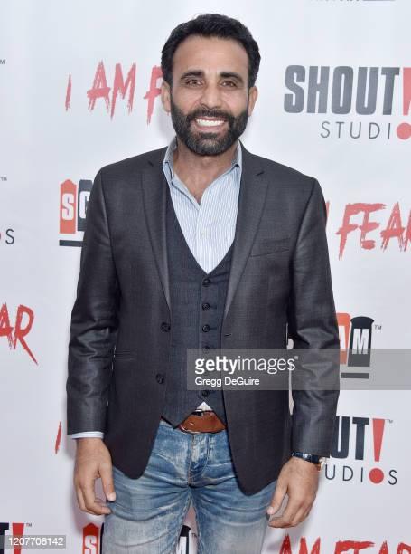 "Iyad Hajjaj attends the Los Angeles Premiere of Roxwell Films ""I Am Fear"" at Laemmle Monica Film Center on February 20 2020 in Santa Monica California"