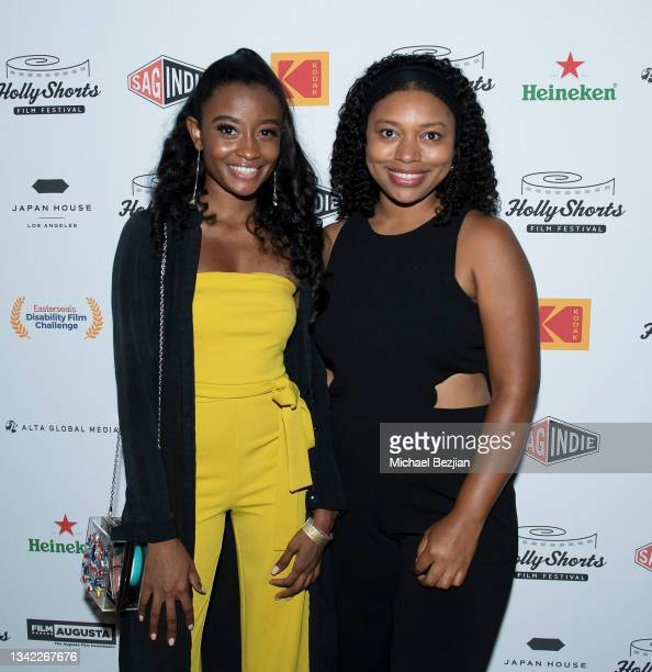 Iyana Halley and Nijla Mumin arrive at 17th Annual Oscar-Qualifying HollyShorts Film Festival Opening Night at Japan House Los Angeles on September...
