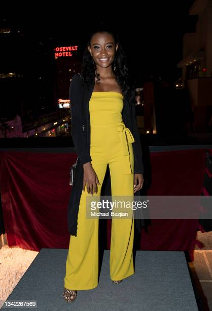 Iyana Halley arrives at 17th Annual Oscar-Qualifying HollyShorts Film Festival Opening Night at Japan House Los Angeles on September 23, 2021 in Los...