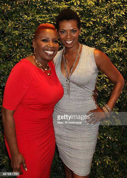 Iyanla Vanzant and Vanessa Williams attend Iyanla Vanzant's meet and greet for OWN's Iyanla Fix My Life at the OWN Offices at The Lot on September 10...