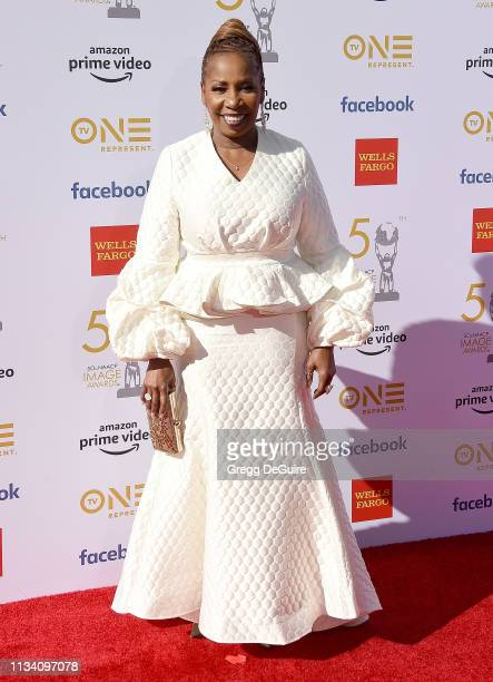 Iyanla Vanzant arrives at the 50th NAACP Image Awards at Dolby Theatre on March 30 2019 in Hollywood California