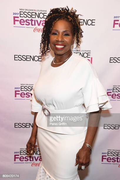 Iyanla Vanzant poses backstage at the 2017 ESSENCE Festival presented by CocaCola at Ernest N Morial Convention Center on July 1 2017 in New Orleans...