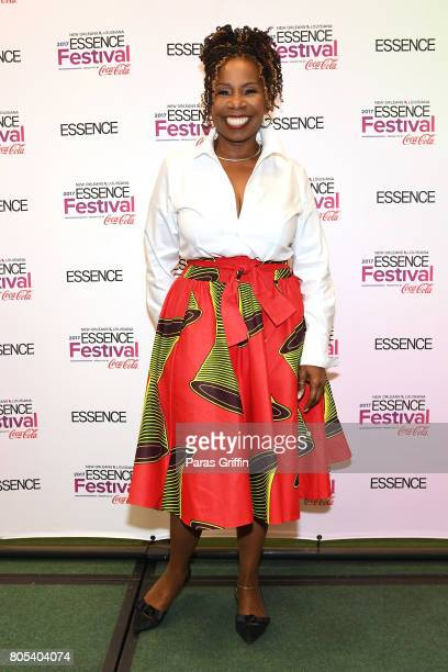 Iyanla Vanzant poses in the press room at the 2017 ESSENCE Festival presented by CocaCola at Ernest N Morial Convention Center on July 1 2017 in New...