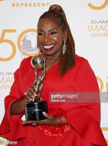 Iyanla Vanzant poses in the press room at the 50th NAACP Image Awards NonTelevised Dinner at Beverly Hilton Hotel on March 29 2019 in Beverly Hills...