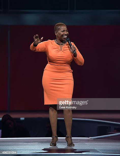 Iyanla Vanzant speaks at the Oprah's The Life You Want Weekend Day 2 at Prudential Center on September 27 2014 in Newark New Jersey