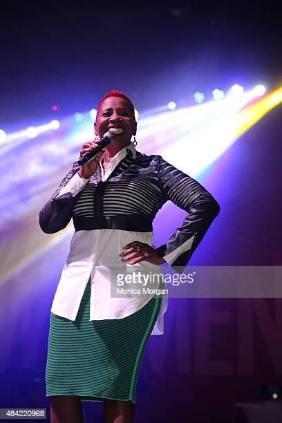 Iyanla Vanzant speaks at Women's Empowerment Expo at Cobo Center on August 15 2015 in Detroit Michigan