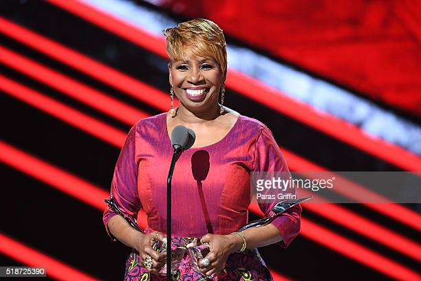 Iyanla Vanzant speaks onstage at Black Girls Rock 2016 at New Jersey Performing Arts Center on April 1 2016 in Newark New Jersey
