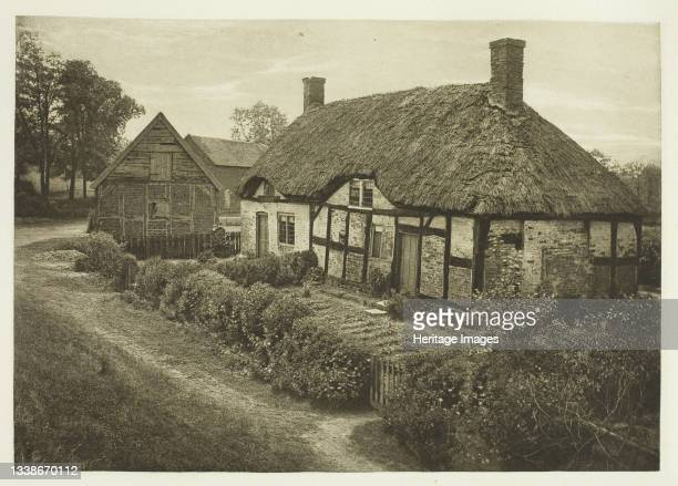 Izaak Walton's House at Shallowford, Staffordshire, 1888. A work made of photogravure, plate xxx from the album 'the compleat angler or the...