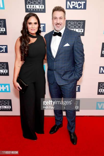 Izabel Araujo and Joey Fatone attend the Critics' Choice Real TV Awards at The Beverly Hilton Hotel on June 02 2019 in Beverly Hills California