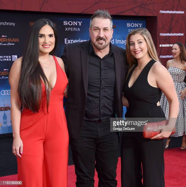 Izabel Araujo Joey Fatone and Briahna Joely Fatone attend the premiere of Sony Pictures' SpiderMan Far From Home at TCL Chinese Theatre on June 26...