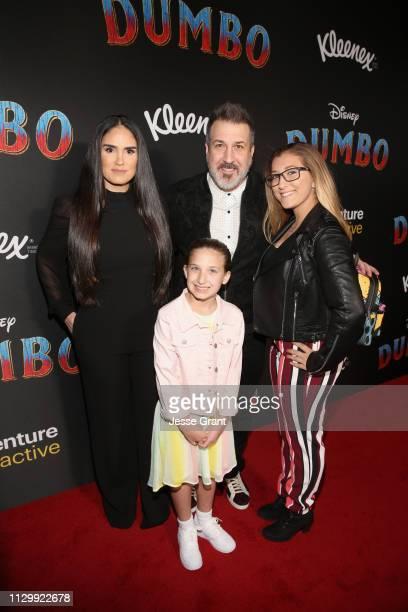 Izabel Araujo Joey Fatone Kloey Alexandra Fatone and Briahna Joely Fatone attend the World Premiere of Disney's Dumbo at the El Capitan Theatre on...