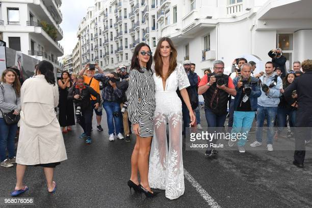 Izabel Goulart and Bruna Marquezine are seen during the 71st annual Cannes Film Festival at on May 13 2018 in Cannes France