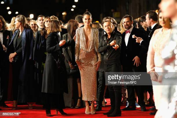 Izabel Goulart and Julien Macdonald attend The Fashion Awards 2017 in partnership with Swarovski at Royal Albert Hall on December 4 2017 in London...