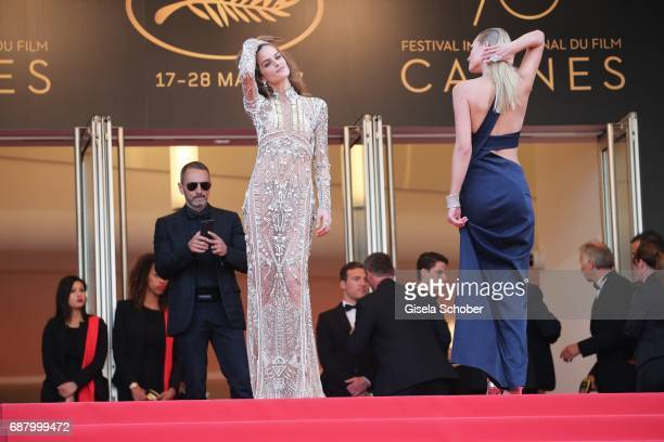 Izabel Goulart and Toni Garrn attend the 'The Beguiled' screening during the 70th annual Cannes Film Festival at Palais des Festivals on May 24 2017...