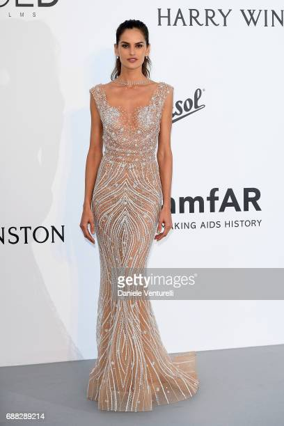 Izabel Goulart arrives at the amfAR Gala Cannes 2017 at Hotel du CapEdenRoc on May 25 2017 in Cap d'Antibes France