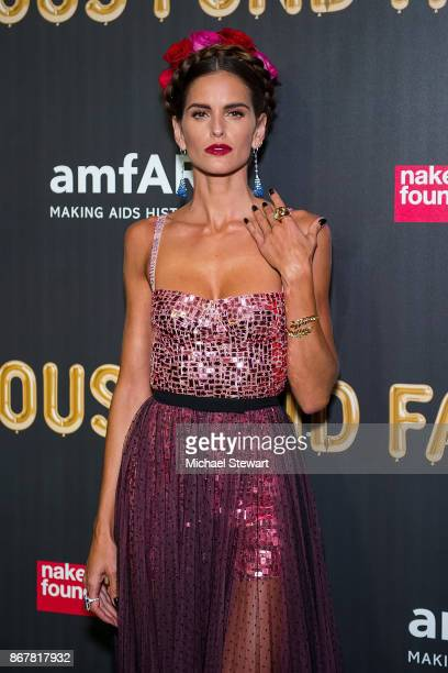Izabel Goulart attends 2017 amfAR and The Naked Heart Foundation Fabulous Fund Fair at Skylight Clarkson Sq on October 28 2017 in New York City