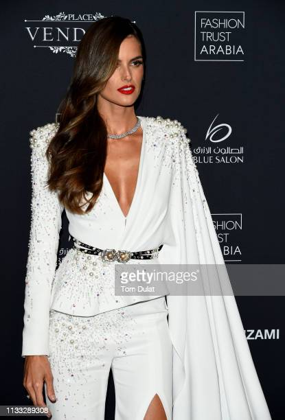 Izabel Goulart attends Fashion Trust Arabia Gala at the Fire Station on March 28 2019 in Doha Qatar