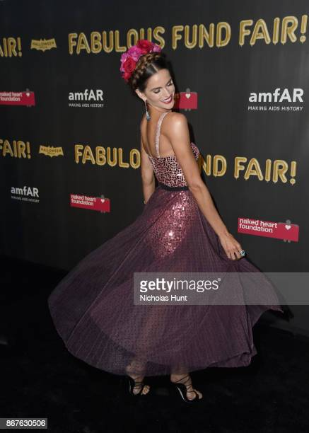 Izabel Goulart attends the 2017 amfAR The Naked Heart Foundation Fabulous Fund Fair at Skylight Clarkson Sq on October 28 2017 in New York City