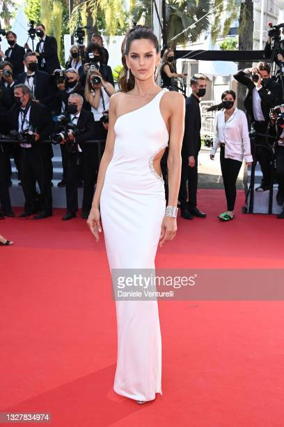 """Izabel Goulart attends the """"Benedetta"""" screening during the 74th annual Cannes Film Festival on July 09, 2021 in Cannes, France."""