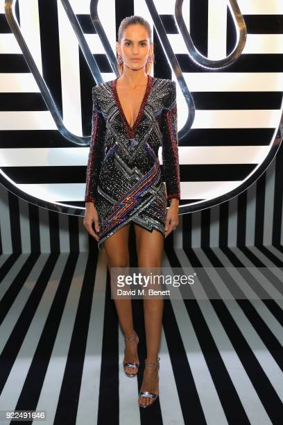 Izabel Goulart attends the Brits Awards 2018 After Party hosted by Warner Music Group Ciroc and British GQ at Freemasons Hall on February 21 2018 in...
