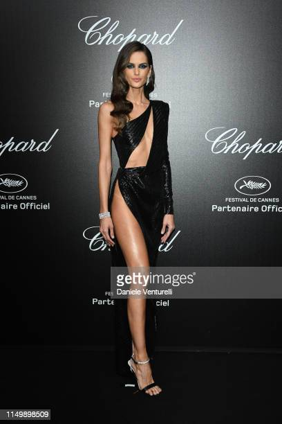 Izabel Goulart attends the Chopard Love Night photocall on May 17 2019 in Cannes France