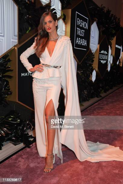 Izabel Goulart attends the Fashion Trust Arabia Prize awards ceremony on March 28 2019 in Doha Qatar