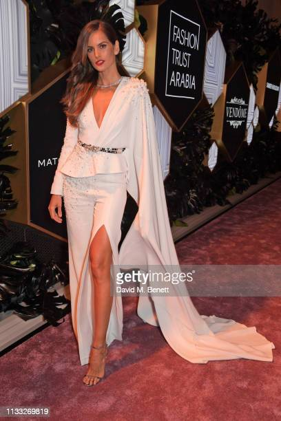 Izabel Goulart attends the Fashion Trust Arabia Prize awards ceremony on March 28, 2019 in Doha, Qatar.