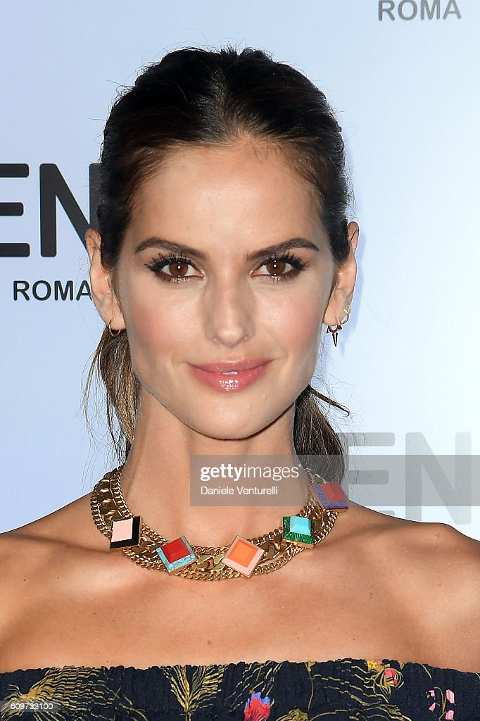 Izabel Goulart attends the Fendi show during Milan Fashion Week Spring/Summer 2017 on September 22, 2016 in Milan, Italy.