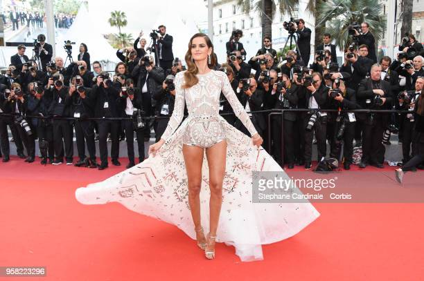 Izabel Goulart attends the Sink Or Swim Photocall during the 71st annual Cannes Film Festival at Palais des Festivals on May 13 2018 in Cannes France
