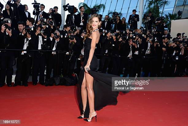 Izabel Goulart attends the 'The Immigrant' premiere during The 66th Annual Cannes Film Festival at the Palais des Festivals on May 24 2013 in Cannes...