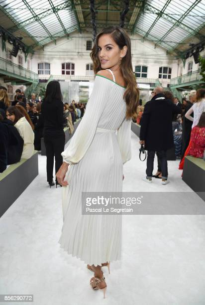 Izabel Goulart attends the Valentino show as part of the Paris Fashion Week Womenswear Spring/Summer 2018 on October 1 2017 in Paris France