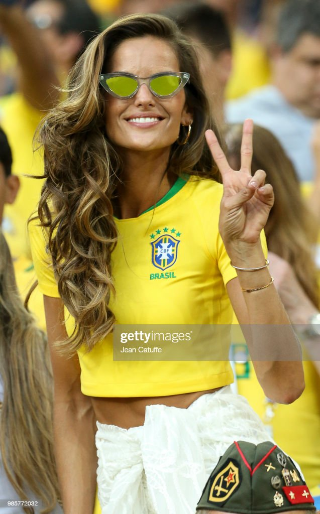 Izabel Goulart, brazilian top model (girlfriend of goalkeeper of Germany Kevin Trapp) during the 2018 FIFA World Cup Russia group E match between Serbia and Brazil at Spartak Stadium on June 27, 2018 in Moscow, Russia.
