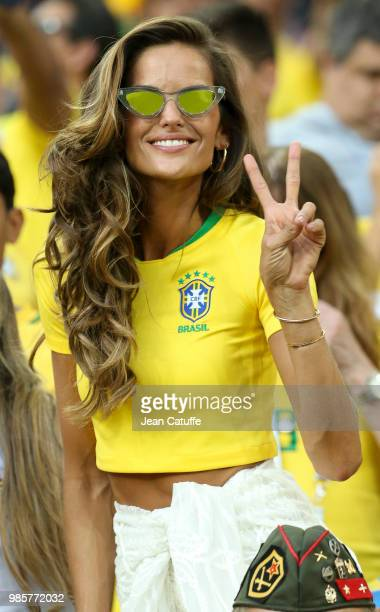 Izabel Goulart brazilian top model during the 2018 FIFA World Cup Russia group E match between Serbia and Brazil at Spartak Stadium on June 27 2018...