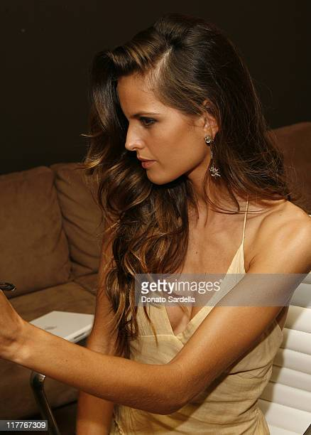 Izabel Goulart during Victoria's Secret Launches VERY SEXY MakeUp Exclusively in Los Angeles After Party Backstage in Los Angeles California United...