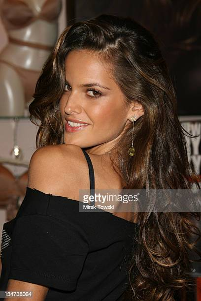 Izabel Goulart during Victoria's Secret launches 'What is sexy' list at Victoria's Secret store at the Grove in Los Angeles California United States