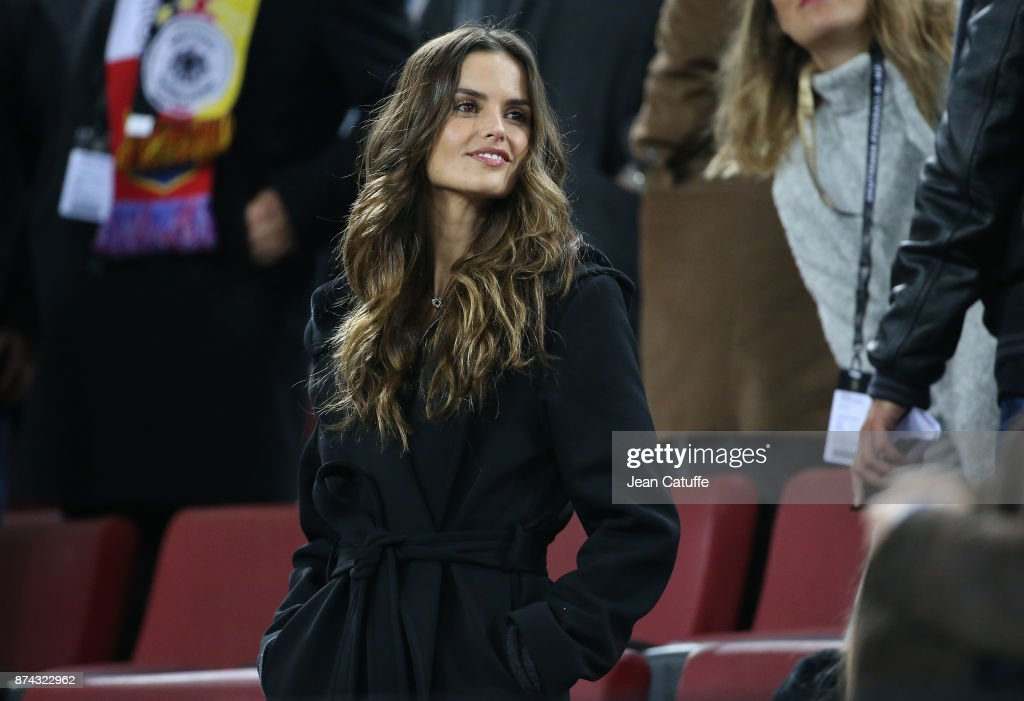 Izabel Goulart, girlfriend of goalkeeper of Germany Kevin Trapp attends the international friendly match between Germany and France at RheinEnergieStadion on November 14, 2017 in Cologne, Germany.