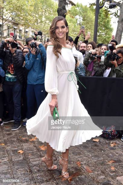 Izabel Goulart is seen arrivinga at Valentino show as part of the Paris Fashion Week Womenswear Spring/Summer 2018 on October 1 2017 in Paris France