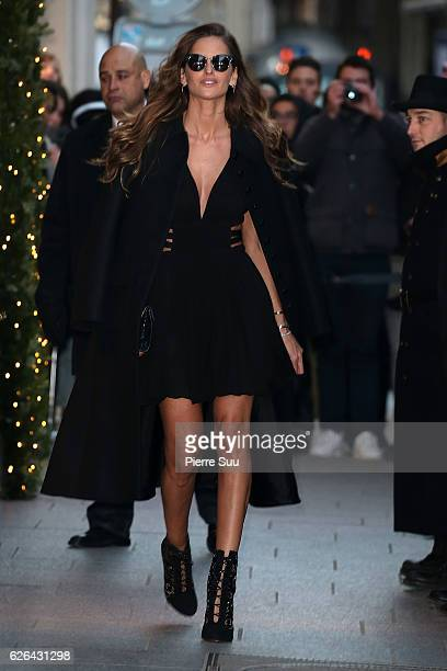 Izabel Goulart is seen leaving her Hotel on November 29 2016 in Paris France