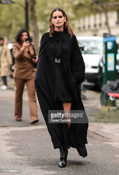 Izabel Goulart is seen wearing a Valentino dress outside the Valentino show during Paris Fashion Week SS20 on September 29 2019 in Paris France