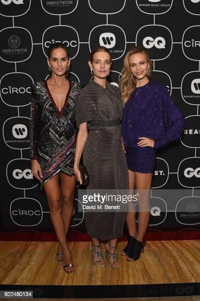 Izabel Goulart Natalia Vodianova and Natasha Poly attend the Brits Awards 2018 After Party hosted by Warner Music Group Ciroc and British GQ at...