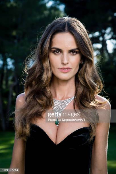 Izabel Goulart poses for portraits at the amfAR Gala Cannes 2018 cocktail at Hotel du CapEdenRoc on May 17 2018 in Cap d'Antibes France