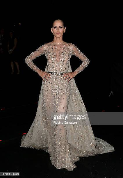 CANNES FRANCE MAY 18 Izabel Goulart sighted at the Chopard GOLD party in Cannes 2015 May 18 in Cannes France
