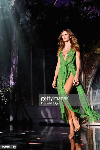 Izabel Goulart walks the runway at the amfAR Gala Cannes 2018 at Hotel du CapEdenRoc on May 17 2018 in Cap d'Antibes France