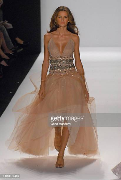 Izabel Goulart wearing Bill Blass Spring 2007 during Olympus Fashion Week Spring 2007 Bill Blass Runway at The Tent Bryant Park in New York City New...