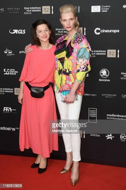 Izabela Gwizdak and Agata Buzek attend the 32nd European Film Awards at Haus Der Berliner Festspiele on December 07 2019 in Berlin Germany