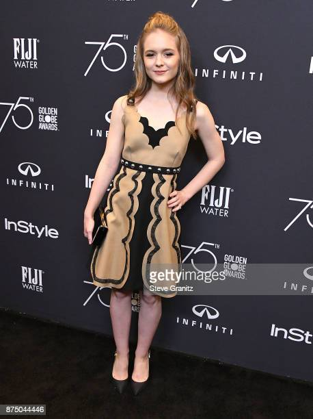 Izabela Vidovic arrives at the Hollywood Foreign Press Association And InStyle Celebrate The 75th Anniversary Of The Golden Globe Awards at Catch LA...
