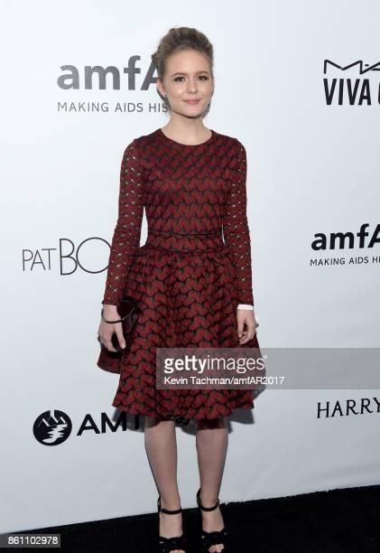 Izabela Vidovic at amfAR Los Angeles 2017 at Ron Burkle's Green Acres Estate on October 13 2017 in Beverly Hills Californi